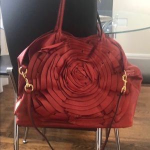 Valentino red flower tote